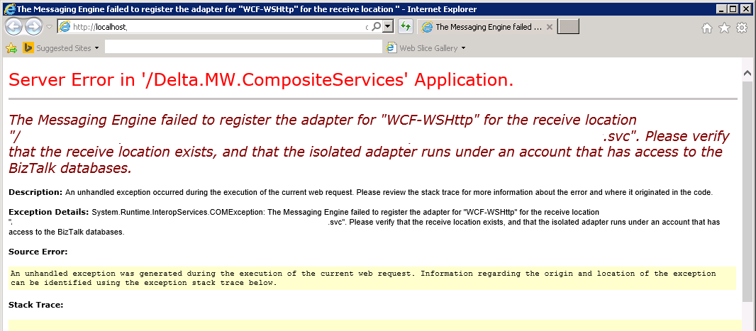 error wcf receive location2
